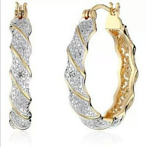 New Gold Hoop Earrings for Women Modern style